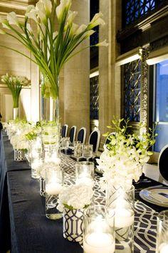 Long table at reception