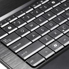 Close-up of the keyboard on the Asus P53E.