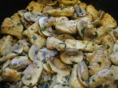 Chicken and Mushrooms in Garlic White Wine Sauce — My Love For Cooking (low fat WW recipe)