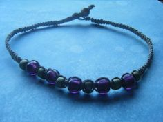 Glass and Acrylic Bead Choker by AurosCrafts on Etsy