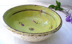 beautiful bowl from Kelim Pottery on Etsy