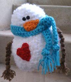 Frosty HAT plus bonus pattern for Mrs. Claus wig #crochet $4.99