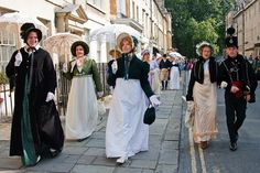 The Jane Austen Festival: Every September, thousands of Austenophiles descend upon Bath, England, to spend a weekend dressed up as their favorite Jane Austen character. The events, organized by the Jane Austen Centre, range from promenading to eating to dancing and perusing the wares at the Country Fayre.