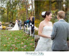 Mid-October ceremony in the Glen. Photo Credit: Amanda Dolly Photography #brandywinemanorhouse