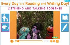"Join Elmo, Rosita, Telly and special guest The King as they sing ""Listening and Speaking"" and give great tips for promoting early literacy in your child! Watch the video at: www.sesamestreet.org/Literacy!"