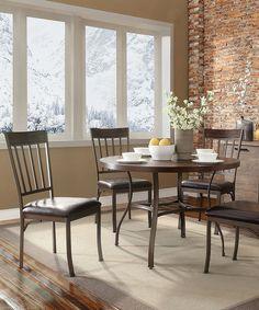 Rustic+Antique+Five-Piece+Dining+Set+#zulily+#zulilyfinds