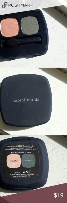 BareMinerals Ready Eyeshadow, The Paradise Found BareMinerals Ready Eyeshadow, The Paradise Found. This pallete features 2 Eyeshadows, nirvana (copper) and utopia (dark green). New in box, never used. BareMinerals  Makeup Eyeshadow