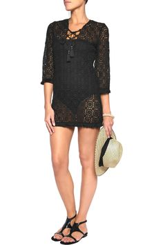 Shop on-sale Miguelina Serena lace-up fringed crocheted cotton coverup. Browse other discount designer Beachwear & more on The Most Fashionable Fashion Outlet, THE OUTNET.COM