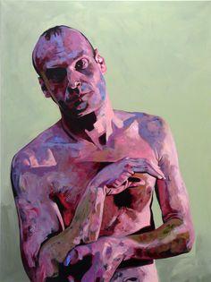 """""""Woyzeck II"""", by Hanjo Schmidt. Acrylic, Expressionism"""