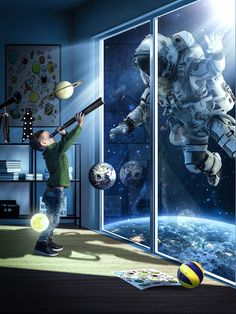 """Check out this @Behance project: """"The Astronaut"""" https://www.behance.net/gallery/67250113/The-Astronaut"""