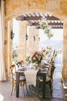 Beautiful flowers and nice chairs too