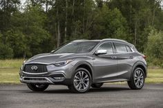 The 2017 QX30 is officially the least expensive way into an Infiniti     - Roadshow  Roadshow  News  Crossovers  The 2017 QX30 is officially the least expensive way into an Infiniti  Infiniti would probably prefer it if I didnt keep making references to the GLA-Class.                                              Infiniti                                          Last week I wrote that Infiniti is offering up a pile of free stuff if youre willing to sign up for its Q60 reservation program…