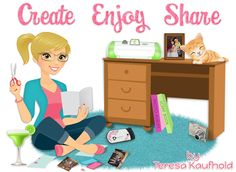 CreateEnjoyShare - my blog redesign!  I am so happy with it!