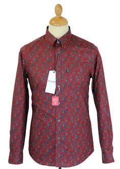 Ben Sherman Crimson Paisley Shirt