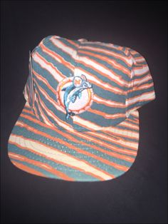 Vintage Deadstock 80's NFL Miami Dolphins Zubaz Snapback Hat Cap by RackRaidersVtg on Etsy