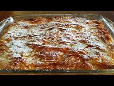 YouTube Desserts With Biscuits, Greek Sweets, Greek Beauty, Lasagna, French Toast, Cooking Recipes, Homemade, Ethnic Recipes, Food