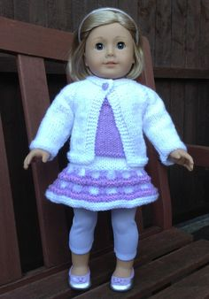 28 American Girl Doll Swingy Kiltie Skirt Set PDF von jacknitss