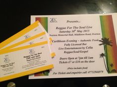Tickets selling fast, contact KK Promotions to reserve yours on 07732 946979
