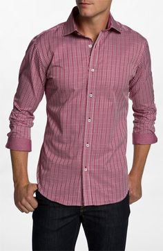 Bugatchi Uomo Shaped Fit Sport Shirt available at #Nordstrom