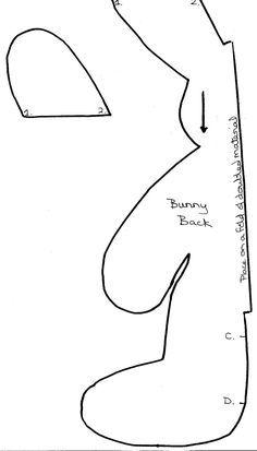 Las chorradikas de Laury: Patrón conejito de peluche de una pieza, my fácil
