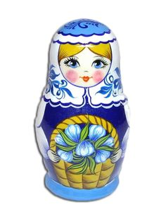 Matryosnka - Russian nesting doll. #Russian #folk #art #matryoshka