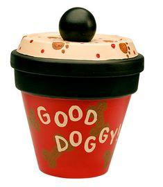 Doggy Treat Jar project from DecoArt