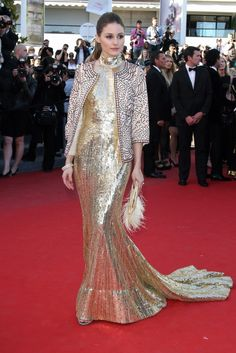 Olivia PALERMO in Gold from fashion-fever.nl
