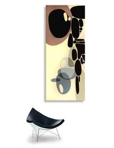 Danish Modern Art Painting Eames Era Tiki 60's Retro Mid Century Modernist 60s | eBay