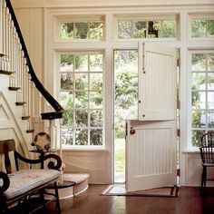 This double barn door makes you feel at home instantly.