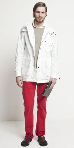 Red chinos / colored pants