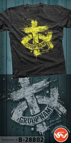 Jesus Fish - Ichthys - Christian T-Shirt Design - Ministry Shirt. T Shirt Designs, Shirt Print Design, Youth Group Shirts, Christian Shirts, T Shirts With Sayings, Fisher, Ichthys, Atrium, Survival Skills