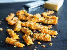 Feierabendsnack: Geröstete Parmesan-Möhren