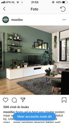para a sala de estar - # for - Einrichtungsideen Zimmereinrichtung - Decoração Ideias Living Room Green, Home Living Room, Interior Design Living Room, Living Room Designs, Living Room Decor Ikea, Room Colors, Small Living, House Design, Home Decor