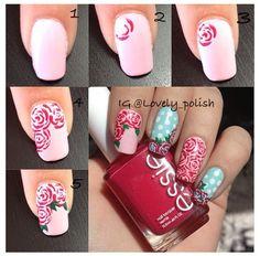 nail art step by step pinterest - Google Search