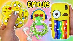 ♥ DIY: 3 Manualidades de Emojis - Fidget Spinner Casero, Funda Móvil y Soporte Auriculares ♥ - YouTube