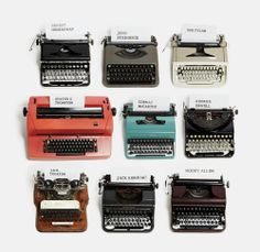 Typewriters Of Famous Writers
