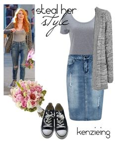 """Steal Her Style-Bella Thorne"" by kenzieing on Polyvore featuring Boohoo, WearAll, Converse, StreetStyle, Stealherstyle, modestishottest, BellaThorne and ApostolicFashion"