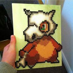 Cubone (104) Pokemon perler beads by mattyperler perler,hama,square pegboard,video games,nintendo,pokemon,