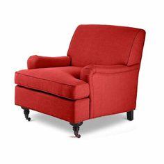 Camden Red Mid-Century Armchair