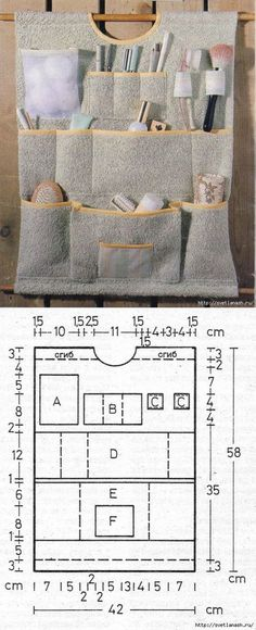 Wall orgaizer sewing pattern