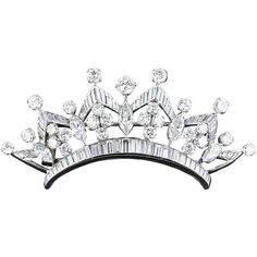 Diamond Platinum Crown Hair Piece Brooch ❤ liked on Polyvore featuring jewelry, brooches, crowns, fillers, accessories, collage, crown brooch, crown jewelry, diamond jewelry and platinum jewelry