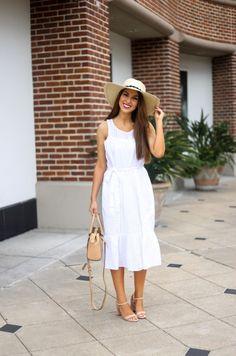 White Eyelet Dress White dress. White dresses. Summer dresses. White dress for summer. Summer white dress.