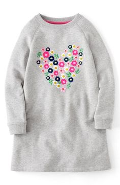 Mini Boden Embellished Sweatshirt Dress (Toddler Girls, Little Girls Big Girls) available at #Nordstrom