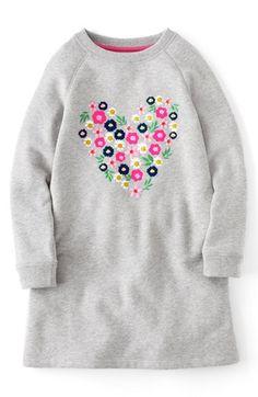 Mini Boden Embellished Sweatshirt Dress (Toddler Girls, Little Girls Big Girls) available at #Nordstrom