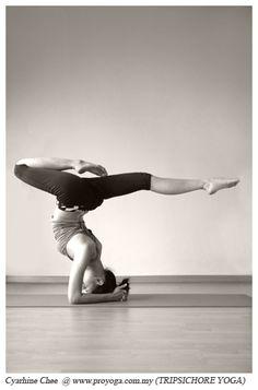 Beautiful forearm stand #yoga