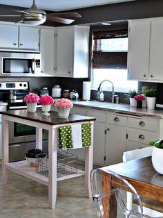 Small Kitchen Island Design ... cute reno ...