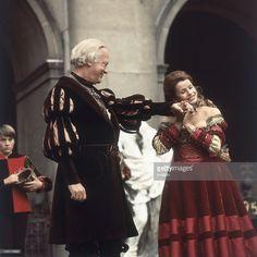 Curd Jürgens as Everyman and Senta Berger as Buhlschaft in 'Everyman' by Hugo…