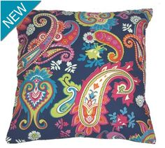 CUSHION paisley indigo
