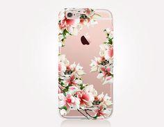 Transparent Floral iPhone Case  Transparent Case  Clear by CRCases