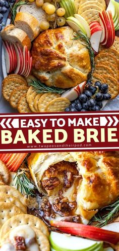 This puff pastry Baked Brie is perfection! This easy and quick Christmas appetizer starts with brie cheese topped with maple syrup, brown sugar, pecans, cinnamon, and wrapped in puff pastry. You can serve it with crackers, bread, and apple slices. Pin this fun Christmas appetizer! Brie Puff Pastry, Puff Pastry Dough, Frozen Puff Pastry, Puff Pastry Sheets, Best Christmas Appetizers, Appetizers For Party, Christmas Holidays, Fun Easy Recipes, Snack Recipes